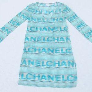 AUTHENTIC Chanel Monogram LOGO RUNWAY Dress